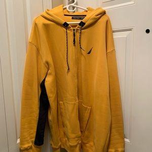 Nautica 3XL Full Zip Hoodie Sweatshirt Unisex